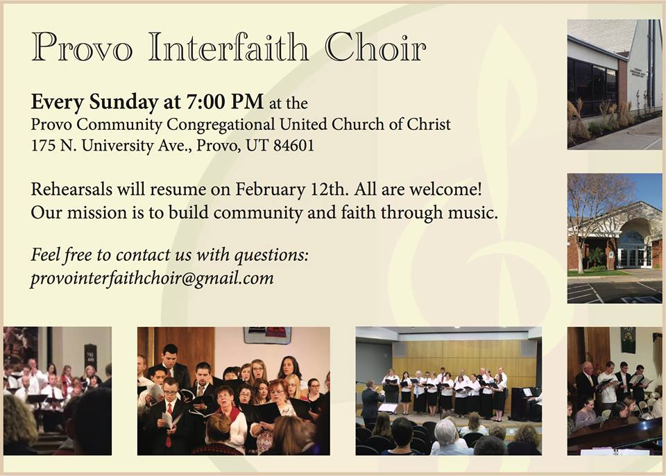 Welcome Back to Choir! | Provo Community Congregational United