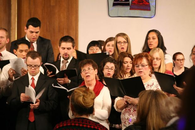 Provo Interfaith Choir performs at the 37th Annual Carols by Candlelight in December 2015. photo courtesy of The Daily Herald